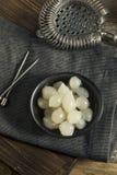 Cipolle bianche marinate organiche del cocktail Fotografia Stock