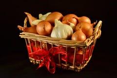 Cipolle ed aglio Fotografia Stock Libera da Diritti