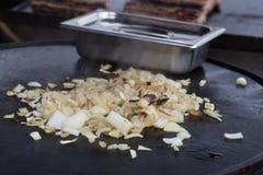 Cipolle fritte immagini stock