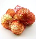 Cipolle, un sacchetto dalle 3 libbre Immagini Stock