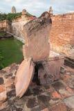 Cippo di confine di Wat Mahathat Temple in Wat Mahathat, Ayutthaya, Tailandia Immagini Stock Libere da Diritti