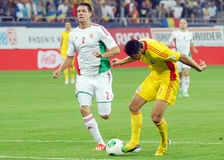 Ciprian Marica scores in Romania-Hungary Royalty Free Stock Images