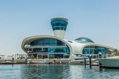 Abu Dhabi, United Arab Emirates, May20, 2017: Cipriani restaurant on Yas island., taken from the marina. Cipriani Restaurant, designed by Florentine architect Stock Image
