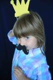 Cipy dziewczyna z koroną Zdjęcia Stock