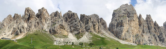 Cir Peaks at the Gardena pass in Dolomiten Royalty Free Stock Images