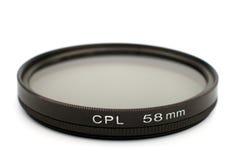 Cir polarizing pro filter. Isolated on white background Stock Photos