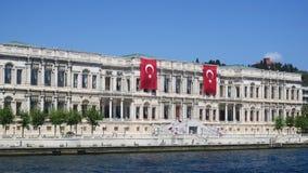 ciragan дворец, пролив Стамбула, индюк стоковое изображение