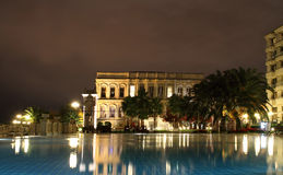 Ciragan palace hotel Bosphorus Istanbul Turkey. Stock Photography