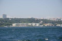 Ciragan Palace in Istanbul. Istanbul old palace Ciragan, Turkey Stock Photo