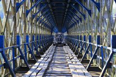 Cirahong Old Bridge Tasikmalaya Landmark stock photo