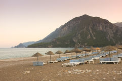 Cirali Beach at Sunset, Turkey Royalty Free Stock Photos