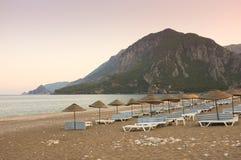Cirali Beach at Sunset, Turkey royalty free stock photos
