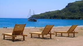 CIRALI BEACH, TURKEY Royalty Free Stock Image