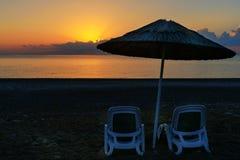 Cirali Olympos beach at sunrise. Turkey Royalty Free Stock Images