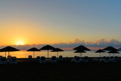 Cirali Olympos beach at sunrise. Turkey. Cirali Olympos beach at sunrise. Antalya Province. Turkey Stock Photography