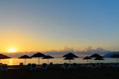 Cirali Olympos beach at sunrise. Turkey Royalty Free Stock Photo