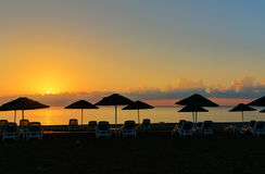 Cirali Olympos beach at sunrise. Turkey Royalty Free Stock Image