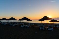 Cirali Olympos beach at sunrise. Turkey Stock Photos