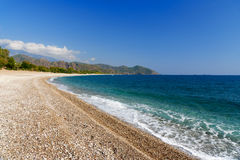 Cirali strand kalkon Arkivbild