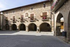 Cirauqui Square. Cirauqui, Navarre. Spain. Stock Image