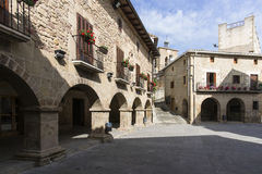 Cirauqui Square. Cirauqui, Navarre. Spain. Stock Photos