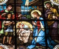 Cirb - Bethlehem sur la vitre photo stock