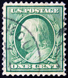 Circa één cent B van de V.S. Franklin 1922 Stock Foto