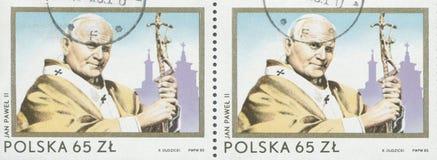 ΠΟΛΩΝΙΑ, circa 1982: γραμματόσημο που τυπώνεται στην Πολωνία που παρουσιάζει μια εικόνα του John Paul II, circa 1982 Στοκ Φωτογραφία