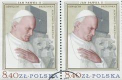 ΠΟΛΩΝΙΑ, circa 1982: γραμματόσημο που τυπώνεται στην Πολωνία που παρουσιάζει μια εικόνα του John Paul II, circa 1982 Στοκ Εικόνες