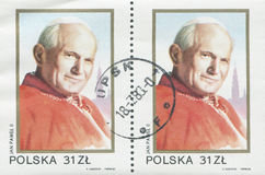 ΠΟΛΩΝΙΑ, circa 1982: γραμματόσημο που τυπώνεται στην Πολωνία που παρουσιάζει μια εικόνα του John Paul II, circa 1982 Στοκ εικόνα με δικαίωμα ελεύθερης χρήσης