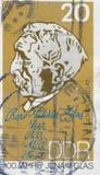 ΑΝΑΤΟΛΙΚΗ ΓΕΡΜΑΝΊΑ - CIRCA 1984: ένα γραμματόσημο που τυπώνεται στην ΟΔΓ που παρουσιάζει ένα πορτρέτο Otto Schott, φαρμακοποιός κ Στοκ Εικόνα