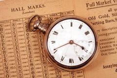 Circa el reloj 1795 Foto de archivo
