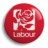 Labour Party Great Britain Rose Badge. CIRCA FEBRUARY 2019 - LONDON: logo of the political party `Labour Party` Great Britain. - Image royalty free illustration