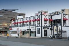 Circa il teatro su lungomare di Wellington, isola del nord della Nuova Zelanda Fotografia Stock Libera da Diritti