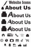Circa noi menu del sito Web Immagine Stock
