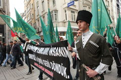 Circassian Activist Group Stock Images
