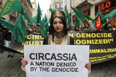 Circassian Aktivisten-Gruppe Lizenzfreie Stockfotografie