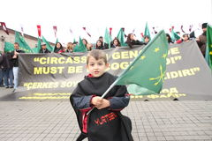 Circassian Aktivisten-Gruppe Stockfoto