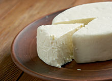Circassian cheese. Found across the North Caucasus, the Levant and other areas with a Circassian diaspora Stock Images