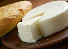 Circassian cheese. Found across the North Caucasus, the Levant and other areas with a Circassian diaspora Stock Photos