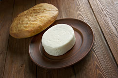 Circassian cheese. Found across the North Caucasus, the Levant and other areas with a Circassian diaspora Stock Photography