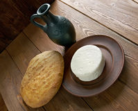 Circassian cheese. Found across the North Caucasus, the Levant and other areas with a Circassian diaspora Stock Image