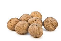 Circassian walnuts. Isolated on white background Royalty Free Stock Images