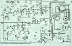 circcuit详细绘图电子概要 免版税库存图片