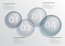 Circel in row infographic Royalty Free Stock Photography