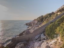 Circeo, panoramic view of the harbor Royalty Free Stock Images