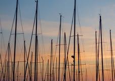 Circeo, vista panoramica del porto Fotografia Stock