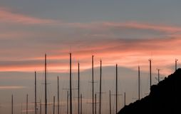 Circeo, vista panoramica del porto Fotografie Stock