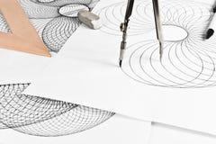 Circinus und geometrische Formen Lizenzfreies Stockfoto