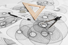 Circinus und geometrische Formen Lizenzfreie Stockfotos